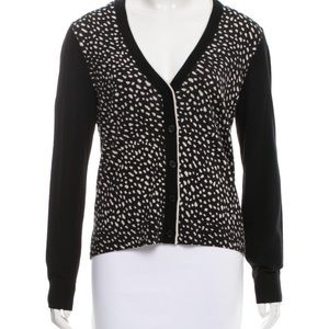 Tory Burch Shia Polka Dot 100% Wool Cardigan Small